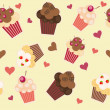 Seamless cake pattern. Vector illustration — Stock Photo #10583916