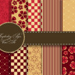 set of beaautiful vector paper for scrapbook — Stock Photo