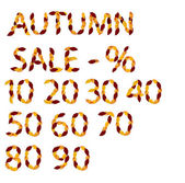 Autumn sale elements from leaves — Stock Photo