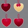 Set of bubbles, stickers, labels, tags. Shape of hearts. — Stock Photo