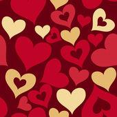 Modello senza saldatura cuori San Valentino — Foto Stock