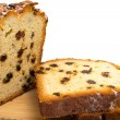 Slices of cake with raisins — Foto de Stock