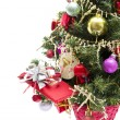 Royalty-Free Stock Photo: Christmas tree with decorations isolated on white background