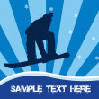 Snowboarding vector — Photo
