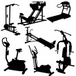 Trainer silhouettes vector illustration — Stock Photo