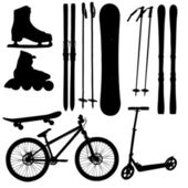 Sports Equipment silhouette vector illustration — Stock Photo