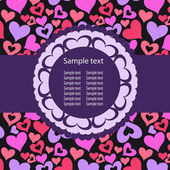 Hearts Background Vector ith sample text — Stock Photo