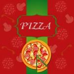 Pizza Menu Template, vector illustration — Stock Photo #8142590