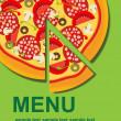 Pizza Menu Template, vector illustration — Stock Photo #8142699