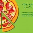 Royalty-Free Stock Photo: Pizza Menu Template, vector illustration
