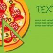 Pizza Menu Template, vector illustration — Stock Photo #8142763