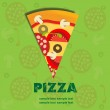 Pizza Menu Template, vector illustration — Stock Photo #8142788