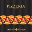 Pizza Menu Template, vector illustration - ストック写真