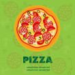 Pizza Menu Template, vector illustration — Stock Photo #8142969
