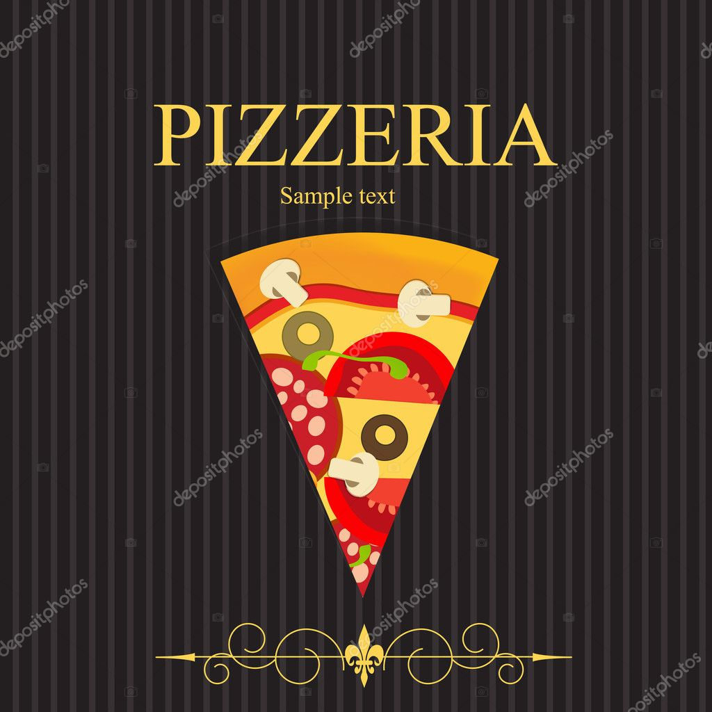 Pizza Menu Template, vector illustration — Stock Photo #8143001