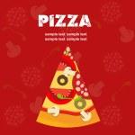 Pizza Menu Template, vector illustration — Stock Photo #8154762