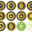 Best choice golden vector label — Stock fotografie
