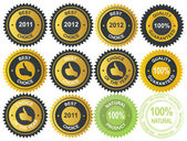 Best choice golden vector label — Stockfoto