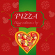 Pizza Menu Template on Valentine`s Day, vector illustration — Stock Photo #8205936