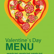 Pizza Menu Template on Valentine`s Day, vector illustration — Stock Photo #8206087