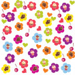 Seamless cake pattern. Vector illustration — Stock Photo
