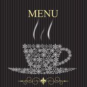 The concept of Restaurant menu on winter. Vector illustration — Stock Photo