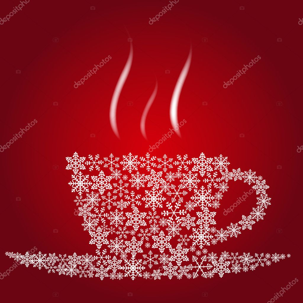 Christmas coffee cup — Stock Photo #8206177