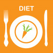 Diet icon. vector illustration — 图库照片