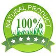 Label for natural products. Vector illustration. — Stock Photo