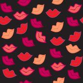 Naadloze sierlijke rode lippen afdrukken — Stockfoto