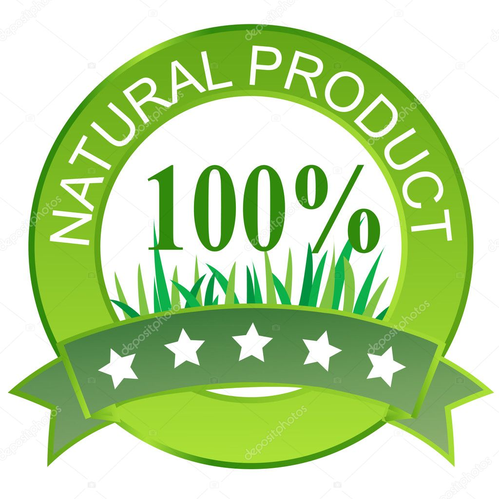 Label for natural products. Vector illustration. — Stock Photo #8259360