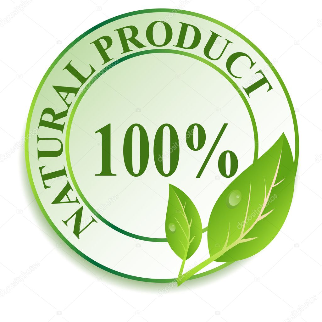 Label for natural products. Vector illustration.  Stock Photo #8259398