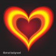 EPS10 vector abstract background with heart — Stock Photo #8293826