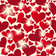 Valentine seamless hearts pattern - Foto Stock