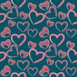 Valentine seamless hearts pattern — ストック写真