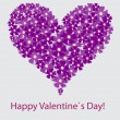 Vector valentine floral heart on white - Foto Stock