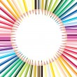Royalty-Free Stock Photo: Vector set of colored pencils