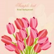 Floral background with tulips — Foto de Stock