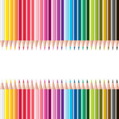 Vector set of colored pencils — Stock Photo