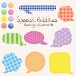 Set of different speech bubbles, design elements — Stock Photo #8444558