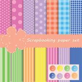 Set different vector paper for scrapbook — Stock Photo