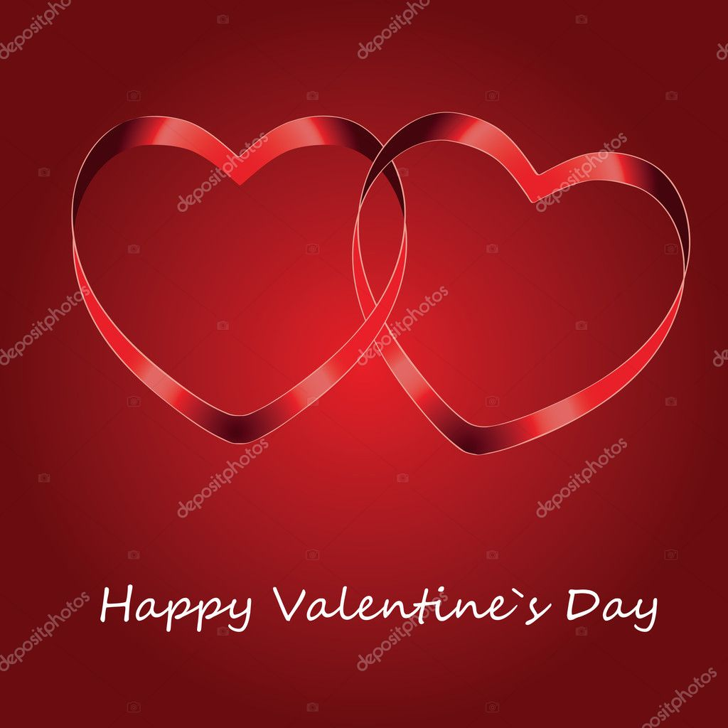 Vector background with two hearts — Stock Photo #8570325