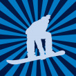 Stock Photo: Snowboarding vector