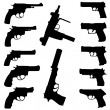 Stock Photo: Vector guns set