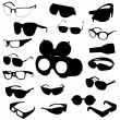 Glasses and sunglasses vector set — Stock Photo