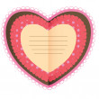 Beautiful card with heart — Stok fotoğraf
