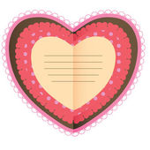 Beautiful card with heart — Stock Photo