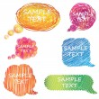 Stock Photo: Colorful hand drawn speech and thought bubbles