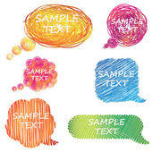 Colorful hand drawn speech and thought bubbles — Stock Photo