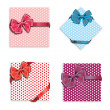 Gift cards with ribbon. Vector background — Stock Photo